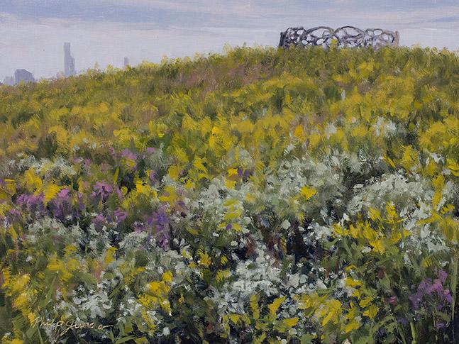 Painting of La Ronda Parakata, Chicago Illinois